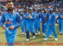 India team ICC Champions Trophy 2017